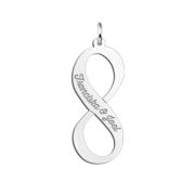 ZNHI11 zilveren naamhanger infinity met namen