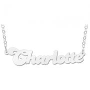 ZNK01 zilveren naamcollier Charlotte