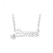 ZNK07 zilveren naamcollier Esmee