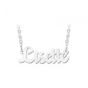 ZNK13 zilveren naamcollier Lisette