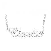 ZNK18 zilveren naamcollier Claudia