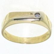.4.1 gram dwars model ring voor hem-haar