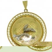 .7.3 gram mooi bewerkte gouden hanger