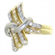 .8.4 gram twee kleuren gouden damesring