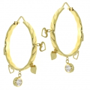 .9.0 gram grote gouden oorringen met hangers