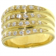.9.2 gram flink brede damesring goud met zirconia