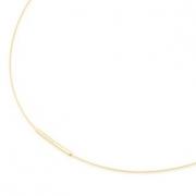 0802-02 verguld collier staal-titanium Boccia 40-42-45-50 cm