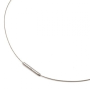 0803-01 eenvoudige staaldraad collier titanium slot Boccia 40-42-45-50 cm