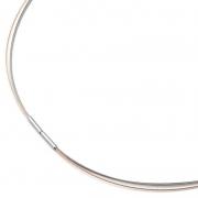 0804-03 rosé verguld collier Boccia staal met titanium 42-45 cm
