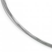 0859-02 stalen collier meerdere draden titanium slot Boccia 42-45 cm