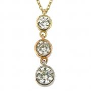 Collier zirconia's onder elkaar VI8 6510 Ambacht goud