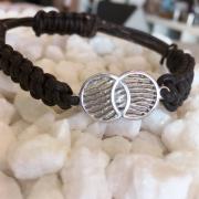 FPA103 vingerafdruk leren armband infinity Royolz