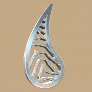 FPH009 vingerafdruk zilveren hanger druppel met collier Royolz
