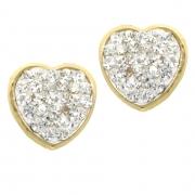 Oorknoppen LA002 hart goud met zirconia Hartenwens