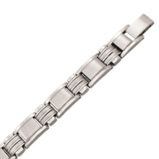 a 50431 21 cm speelse herenarmband staal