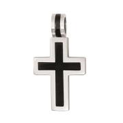 h 50099 2-delig kruis staal-zwart