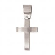 h 50177-PE gewelfd stalen kruisje leuk voor een communie