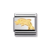03011304 Nomination dolfijn schakel goud