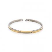 03018-02 titanium met verguld armband Boccia