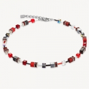 0312 collier Red-Grey Coeur de Lion 4014100312