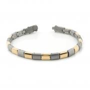 0313-02 armband Boccia bicolour titanium
