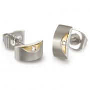 05007-03 titanium oorstekers met 0.01 crt. briljant Boccia