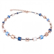 0710 collier Blue-Beige Coeur de Lion 4945100710