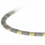 0812-02 collier Boccia bicolour titanium