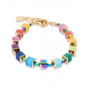 1535 armband Multicolour Rainbow-Gold Coeur de Lion 4947301535