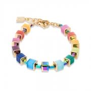 1535 armband Multicolour Rainbow-Gold Coeur de Lion 4947301535