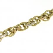 16.8 gram armband drie kleuren goud