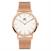 1235 rosé verguld herenhorloge mesh band Danish Design IQ67Q1235