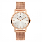 IV67Q1235 rosé verguld dameshorloge mesh band Danish Design
