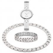 Voordelige combinatie titanium horloge-armband-collier