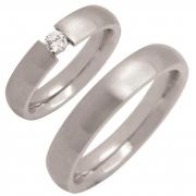 Zirconia 50347 stalen ringen met klemzetting