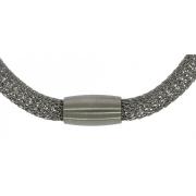 c 52831 45 cm gevlochten ketting 6 mm staal met magneetsluiting