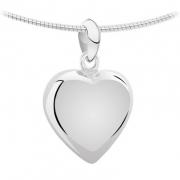 1250 zilveren of gouden ashanger hart klein