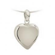1290 zilver geelgoud of witgoud ashanger hart extreem groot 1290z 1290g 1290w