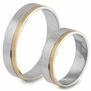 56.00148 Amorio goud met zilveren relatieringen