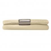 12112-38 Endless bracelet nude double silver