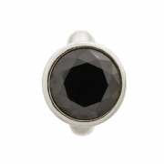 41158-4 Endless charm round black dome silver