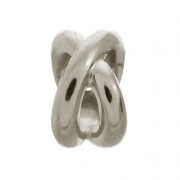 41210 Endless charm double ring silver