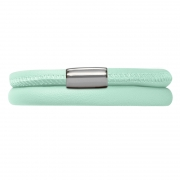 12115-38 Endless bracelet mint double silver