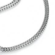 19-20 zilveren collier Sueno 42cm