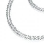 19-26 zilver Sueno collier 45 cm