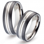 52474 titanium met carbon Titan Factory trouwringen