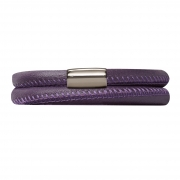 12106-36 Endless bracelet purple double silver