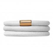 12508-60 Endless bracelet white triple gold