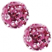 238 Oorknoppen Firebal Rose 4.5 mm