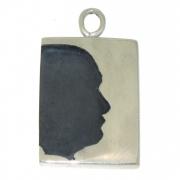 Silhouet Diep Relief zilveren hanger